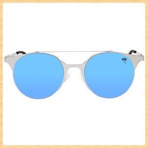 New Melt Round Browbar Sunglasses